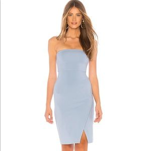 NWT Blue NBD Revolve strapless dress size Medium!